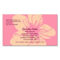 Pink and Cream Apple Blossom Business Card Templates