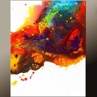 Abstract Art Canvas Painting 18x24 Contemporary Art Paintings by Destiny Womack - dWo - Euphoric