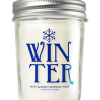Mason Jar Candle Winter