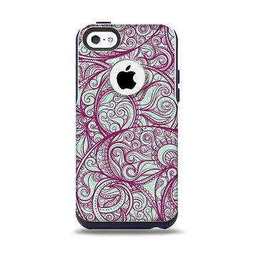 The Vector Purple Thin Laced Apple iPhone 5c Otterbox Commuter Case Skin Set