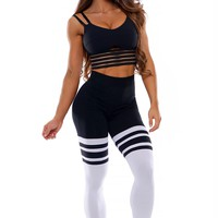 High Waist Thigh Highs - Black/Black