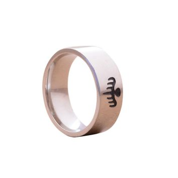 Stainless Steel Ghost Party Ring