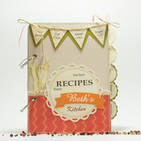 Personalized Recipe Book -  Custom Recipe Binder - Recipe organizer - CookBook with 150 lined blank pages