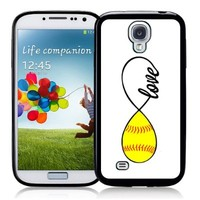 SudysAccessories Softball Love Softball Infinity Love Thinshell Case Protective Galaxy s4 Case sIV Case i9500