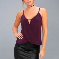 Loops-y Daisy Purple Top