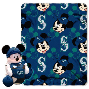 Seattle Mariners MLB Mickey Mouse with Throw Combo