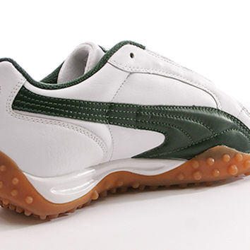 Puma Temo Leather Men's White Riffle Green sneaker