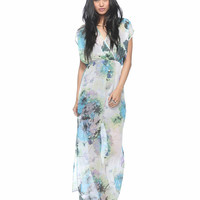 Floral Surplice Maxi Dress