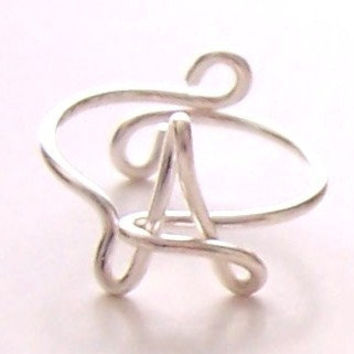 Ring . Wire Name Ring . Initial Ring . Wire Word Ring . Personalized Ring . Wire Name Jewelry . Adjustible