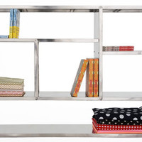 Shelf - Metal / L 110 x H 79 cm Inox by Tsé-Tsé