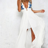 Miss Right Maxi Dress White
