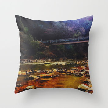 River Crossing Throw Pillow by DuckyB (Brandi)