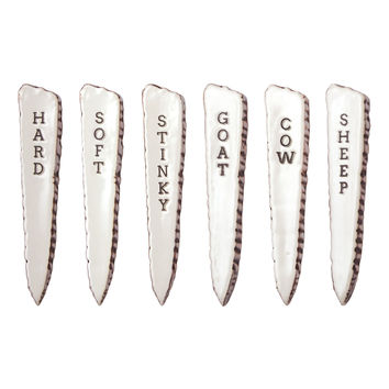 Birch Cheese Markers, Set of 6