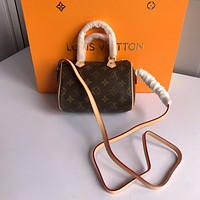 Louis Vuitton LV Monogram Mini Handbag Crossbody Shoulder Bag