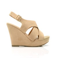 Fill Me In Wedge - Nude