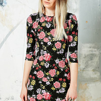 Truly Madly Deeply Cordelia Bodycon Dress in Floral Print - Urban Outfitters