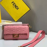 Fendi Fashion Pink Women Leather Crossbody handbags Shoulder Bag