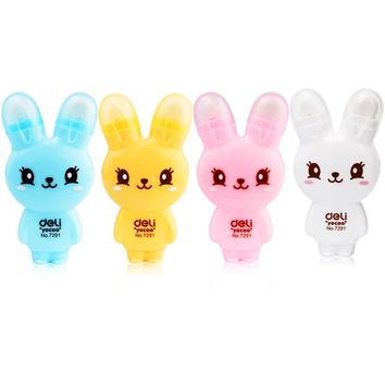 Cute Cartoon Rabbit Correction Tape + Eraser Multifunction Kawaii Stationery 5mm*6m Office Supplies & School Supplies Stationary