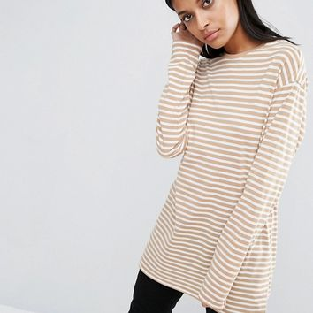 ASOS Oversized Striped Long Sleeve T-Shirt at asos.com