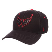 Capz on Rackz | Washington Capitals NHL Black Element II Stretch Fit Fitted Zephyr Hat | Zephyr Hats