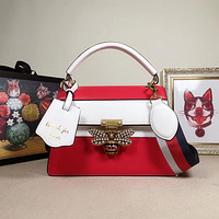 GUCCI WOMEN'S CLASSIC LEATHER HANDBAG SHOULDER BAG