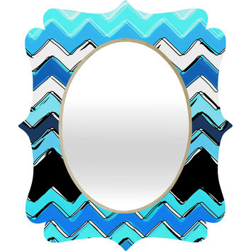 Sharon Turner Ocean Chevron Quatrefoil Mirror