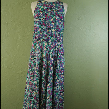 Vintage '90s Grunge Floral MaxiDress// M by StoriesForBoys on Etsy
