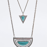 Turquoise Arrow Necklace in Silver - Urban Outfitters