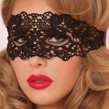 ac DCCKO2Q 1PCS Eye Mask Women Sexy Lace Venetian Mask For Masquerade Ball Halloween Cosplay Party Masks Female Fancy Dress Costume Masque