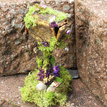 Fairy mailbox. Fairy garden, miniature furniture, miniature gardening, garden decor. Woodland fair, charming gift!