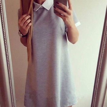 Trendy Loose Collar Casual Stylish Dress