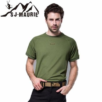 Men's Outdoor Sports Clothing Hunting T-shirts Quick-druing Military Tactical Hunting T-Shirt Camouflage for Shooting Hunting