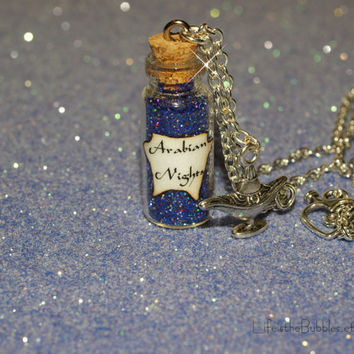 Arabian Nights Necklace Aladdin Mystical Power Genie of the Lamp Charm Disney