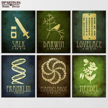 DPARTISAN Steampunk Posters And Prints Wall Art Canvas Painting Wall Pictures For Living Room Nordic No Frame painting SP-7-12
