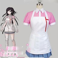 Dangan Ronpa 2 Danganronpa Mikan Tsumiki Dress Cosplay Costume Custom Made Free Shipping