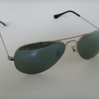 Ray Ban Aviator Sunglasses 3025 W3277 Silver with Mirror Lens 58mm Large