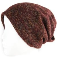 Amazon.com: Women's Beanie Hat - Solid Knit - Iridescent Rainbow Weave - Maroon: Shoes
