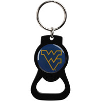 Black West Virginia Mountaineers Bottle Opener Keychain