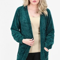 Luxury Chenille Sweater Cardigan {Emerald}