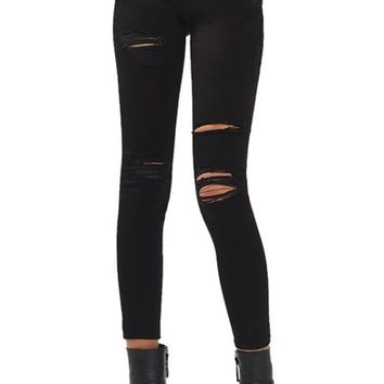 Topshop Leigh Super Rip Skinny Jeans | Nordstrom