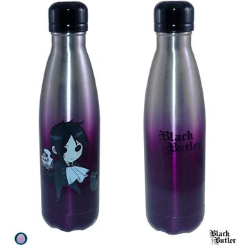 17oz OFFICIAL Kuroshitsuji Black Butler Sebastian PREMIUM Steel Sports & Fitness Training Water Bottle GIFT