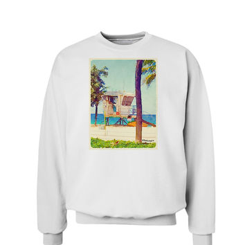 Lifeguard Station Watercolor Sweatshirt