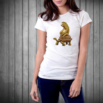 sloth and turtle for T Shirt Mens and T Shirt Girls