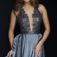 Beaded Bandeau Back Dress by Sherri Hill