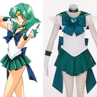 Sailor Neptune Michelle Kaioh Custom Cosplay Costume, Sailor Moon Super Costume