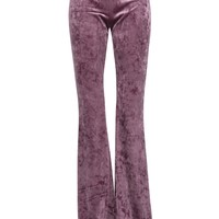 Purple Haze Velvet Flared Bell Bottom Pants