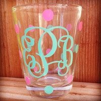 Custom Monogrammed Shot Glass