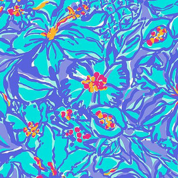 Lilly Pulitzer Inspired 8.5 x 11 Vinyl Sheets Water Resistant!!