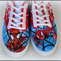 Custom Womens Shoes, Womens Vans, Womens Generic Shoes, Wedding Shoes, Painted Superhero Shoes, Painted Canvas Shoes, Spiderman, Bridal
