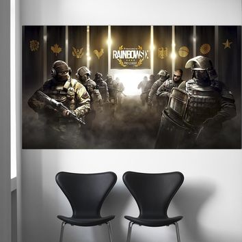 Wangart Rainbow Six Siege CTU PC Gaming Weapon Art Canvas Print Poster Prints Decor Painting Movie Posters Wall Art Home Decor